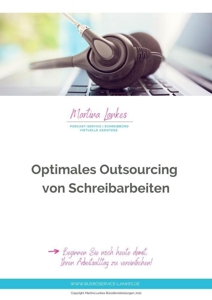 Checkliste optimales Outsourcing von Schreibarbeiten